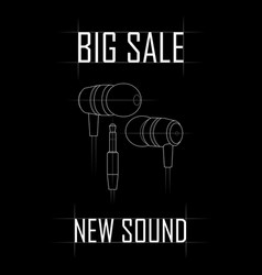 big sale of vacuum headphones vector image