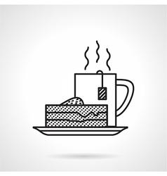 Breakfast black line icon vector