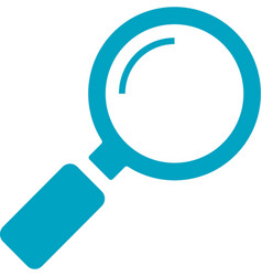 business networking magnifying glass search icon vector image