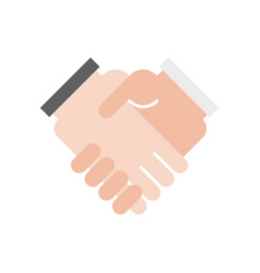 businessman handshake icon deal concept vector image