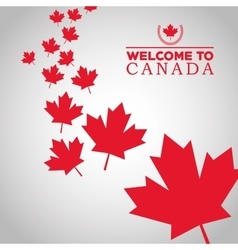 Canadas County design Maple leaf icon Welcome vector image