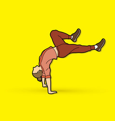 Dancer practice street dance graphic vector