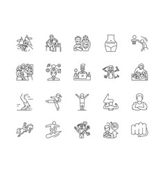 Do it yourself line icons signs set vector