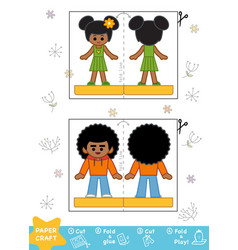education paper crafts for children african vector image