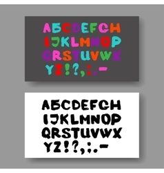 English alphabet on a gray background Set vector image