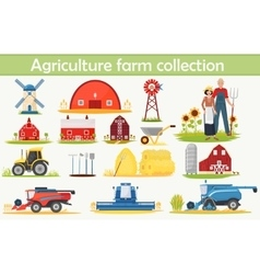 farm agriculture infographics elements set vector image