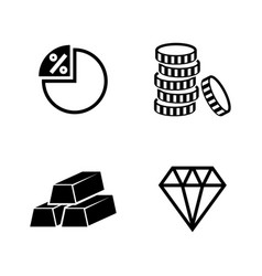 finance and banking simple related icons vector image