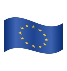 Flag of Europe European Union waving on white vector