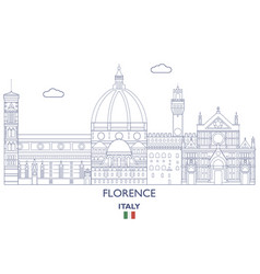 Florence city skyline vector