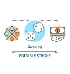 Gambling concept icon games chance idea thin vector