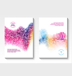 Geometric cover design vector