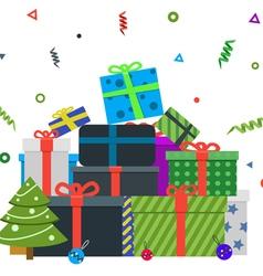 Gift box for merry chrismas vector