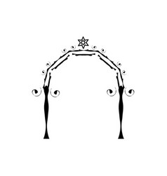 Graphic chuppah arch jewish wedding canopy vector