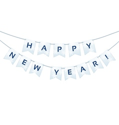 Happy New Year words vector image