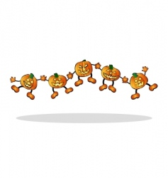 happy pumpkins vector image