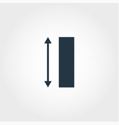 height measurement icon from measurement icons vector image