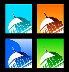 islamic logo element vector image
