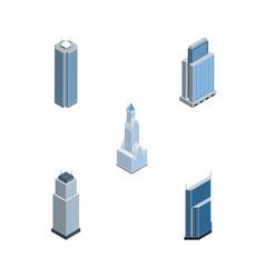isometric construction set of skyscraper vector image