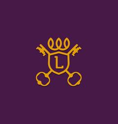 Luxurious badge logo design vector