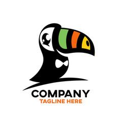 modern bird toucan logo vector image