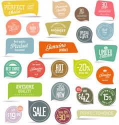 modern colorful badges collection 2 vector image