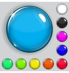Multicolored glass buttons vector image