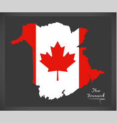 New brunswick canada map vector