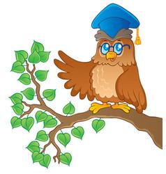 owl teacher theme image 1 vector image