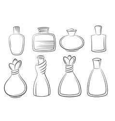 Perfume and cologne bottles vector