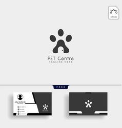 Pet home or store creative logo template vector