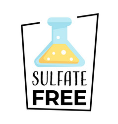 Product label sulfate free isolated icon vector
