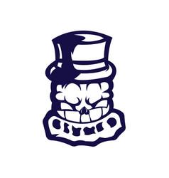 pumpkin mascot logo outline version pumpkins logo vector image