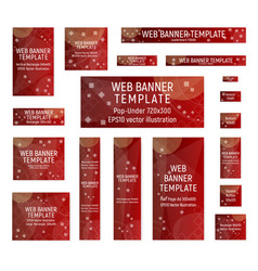 red abstract web banners vector image