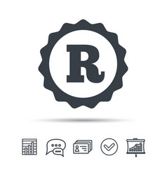 Registered trademark icon intellectual work vector