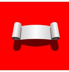 roll blank white paper vector image