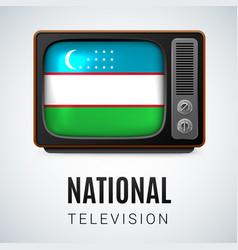 Round glossy icon of uzbekistan vector