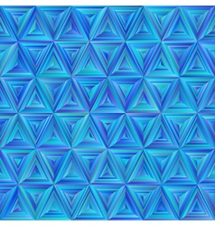 Seamless Blue Triangulate Pattern vector