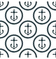 seamless pattern marine anchors vector image