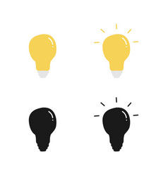 set collection of lamp bulb or light bulb vector image