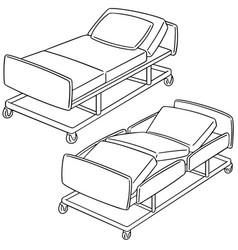 set of hospital bed vector image