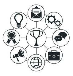 set of social media and network icons vector image