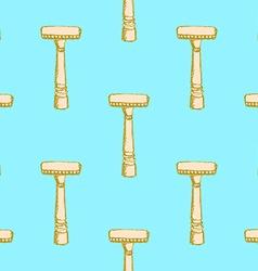 Sketch vintage razor in vintage style vector image