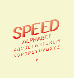 speed alphabet alphabet vector image