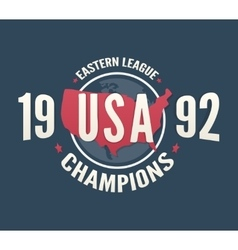 USA League Champions t-shirt apparel fashion vector image