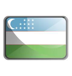 uzbekistan flag on white background vector image