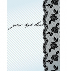 Vertical black french lace background vector