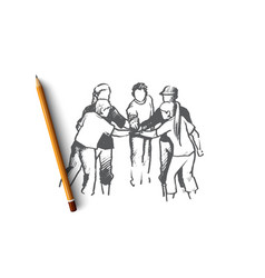 volunteer concept hand drawn isolated vector image