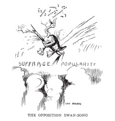 womens suffrage cartoon - swan song vintage vector image