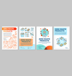 zero waste products brochure template layout vector image