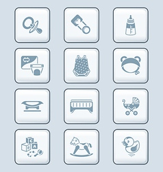 Baby objects icons - TECH series vector image vector image
